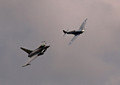 Euro Fighter Typhoon & BBMF Spitfire Syncro pair