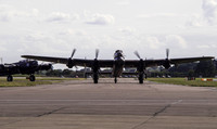 Lancasters taxi back from display practice