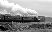 BR Std 4 76079 Passes Moorgates with the 9.50 departure from Goathland...