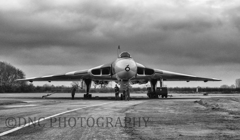 Avro Vulcan B2 XM655 being prepared .