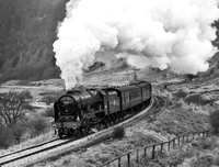 LMS 46100 Royal head north towards Ellerbeck.