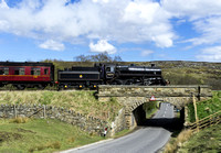 BR Std 4 76079 crosses the bridge at Moorgates with the 14.50 departure from Goathland