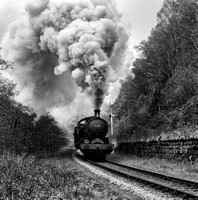 LNER Q6 63395 on the approach to Goathland station