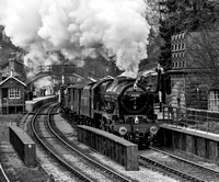 LMS 46100 Royal Scot Passing Goathland Station.
