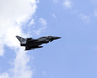 Typhoon flying away from RAF Coningsby