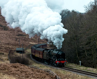 LMS 46100 Royal Scot passing through Newtondale