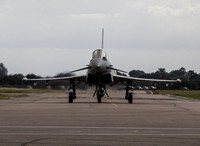 Typhoon taxis back to flight line