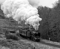 LMS 46100 Royal Scot passing through Newtondale.